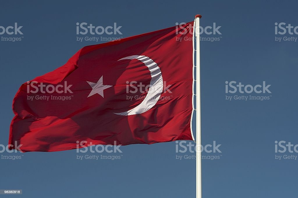 Flag turkey royalty-free stock photo