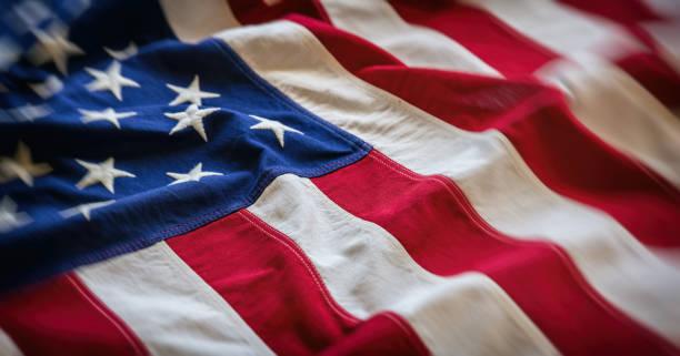 abd bayrağı, abd amerika işareti sembolü arka plan, closeup görünümü - american flag stok fotoğraflar ve resimler