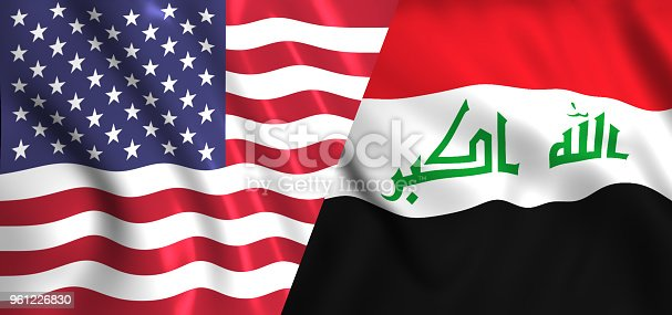 istock flag usa and IRaq 961226830