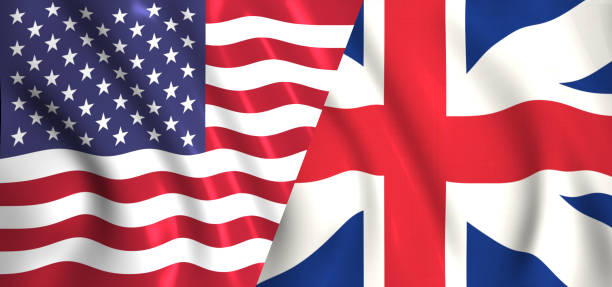 flag usa vs Britain flag usa vs Britain Anglo American stock pictures, royalty-free photos & images