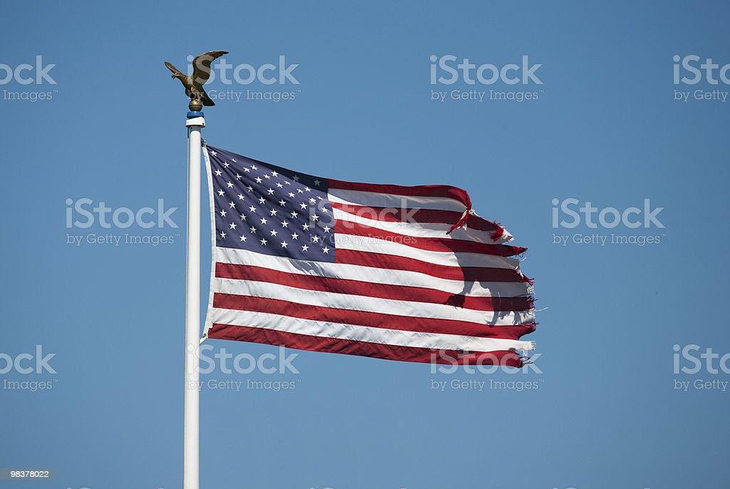 Flag usa with golden eagle royalty-free stock photo