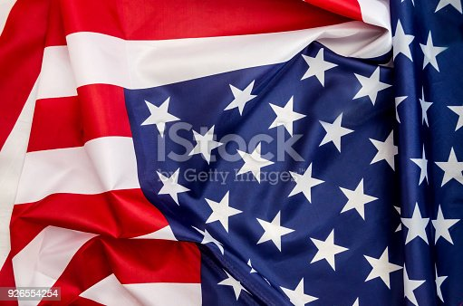 937074172 istock photo flag USA with wave close up 926554254