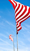 istock Flag waving in the wind 182791126
