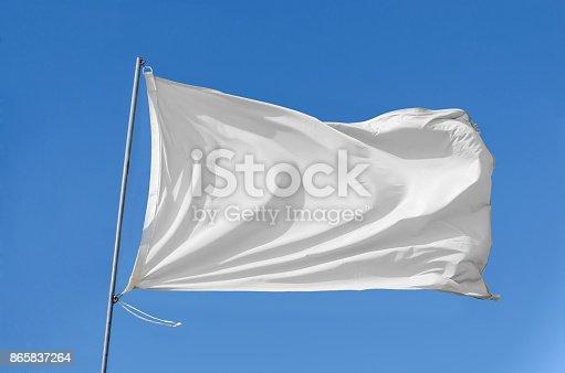 istock flag waving on the sky 865837264