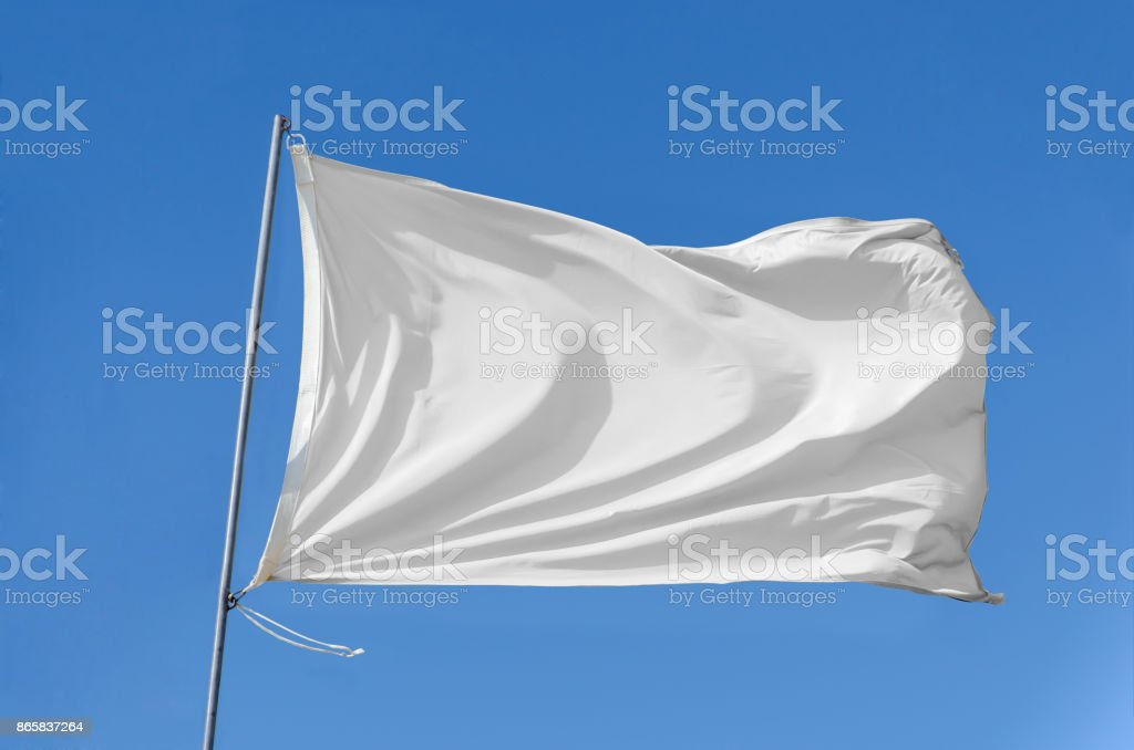 flag waving on the sky stock photo