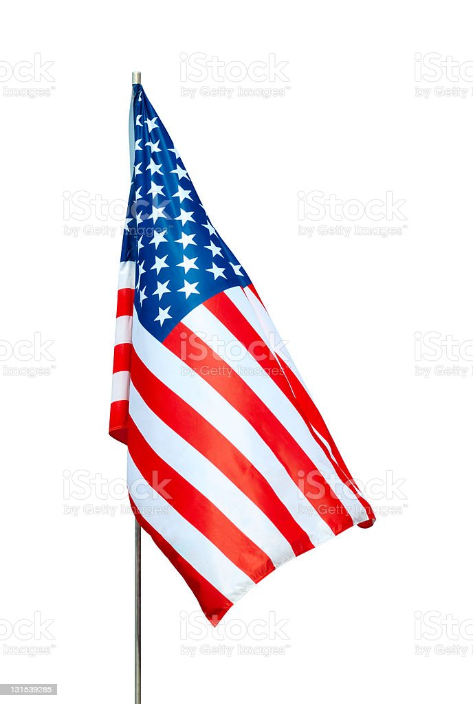 USA flag with clipping path stock photo