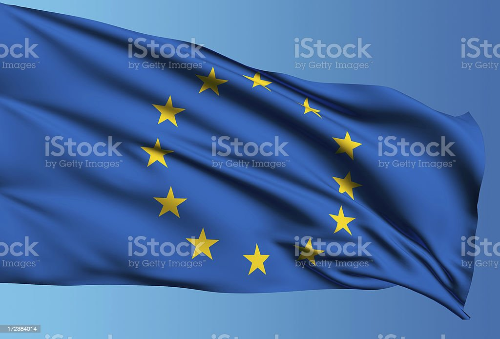 EU flag with clipping path royalty-free stock photo