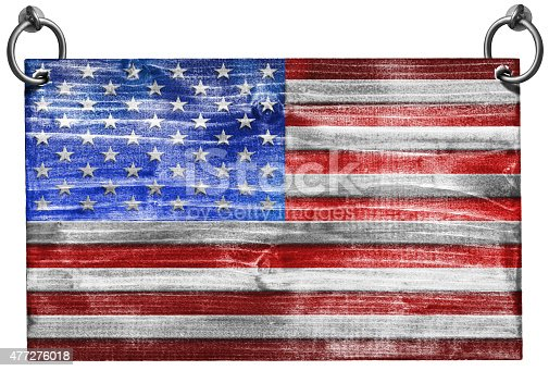 istock USA Flag with Clipping Path 477276018
