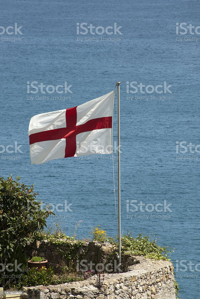 flag with St. George's cross stock photo