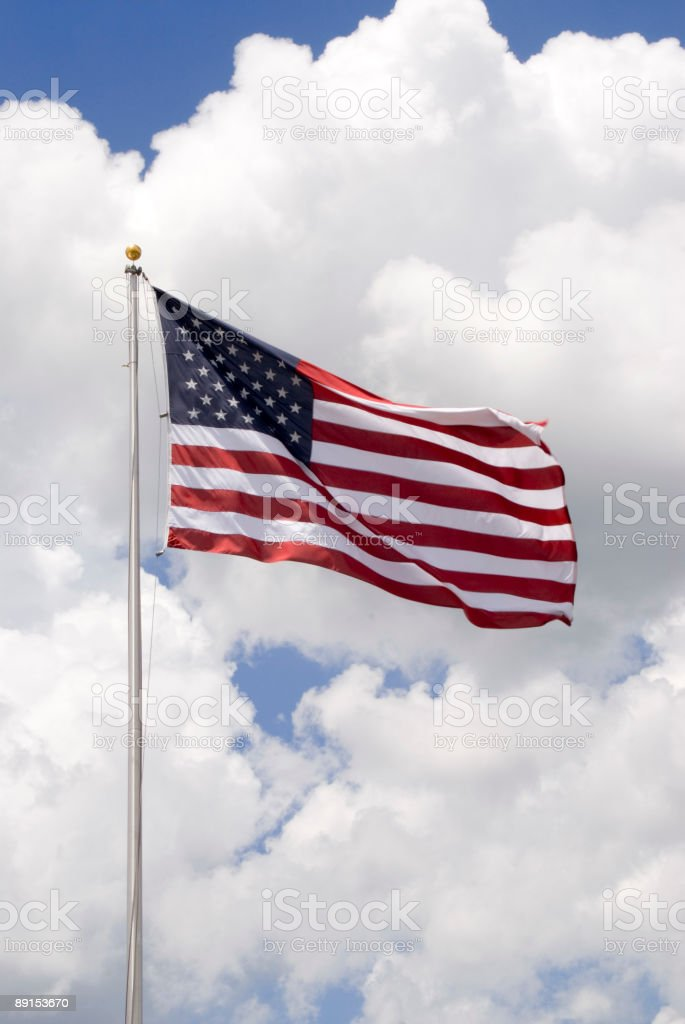 flag-clouds royalty-free stock photo
