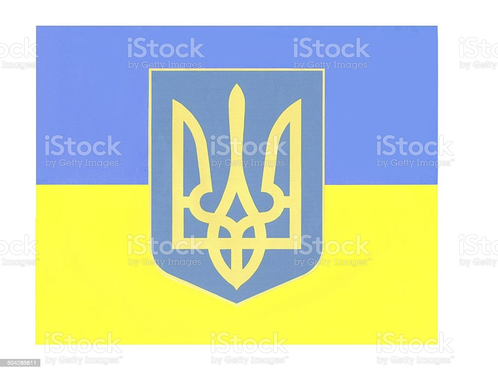 flag,colors and sign of Ukraine royalty-free stock photo