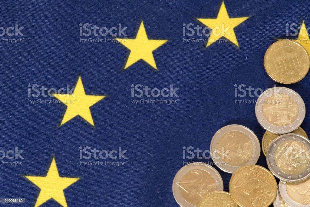 Flagge der Europäischen Union EU stock photo
