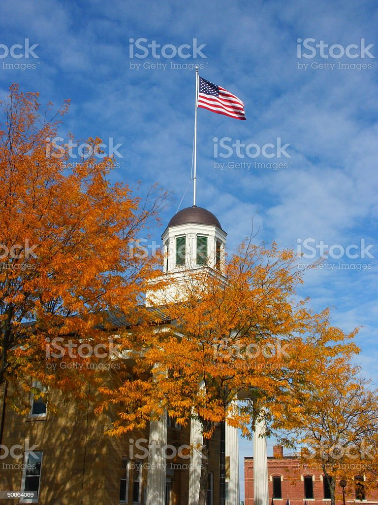 Flagged Dome stock photo
