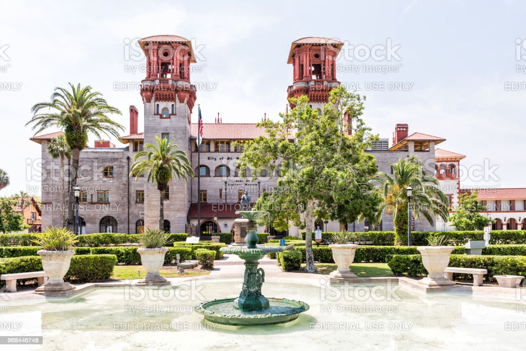Flagler College With Water Fountain Florida Architecture, Famous Statue In  Historic City, Nobody Royalty