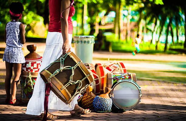 Flagrante de Maracatu apresentação de Ilhabela, Brasil - foto de acervo