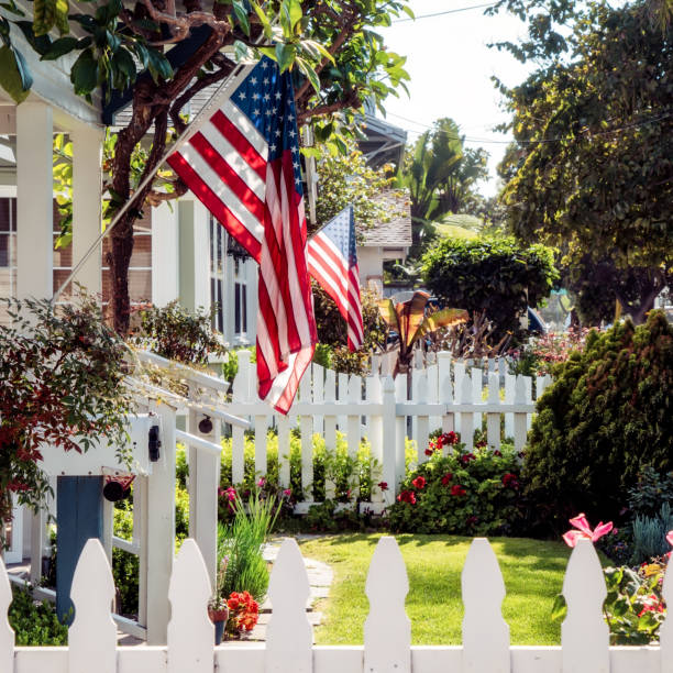 Flags 2 stock photo