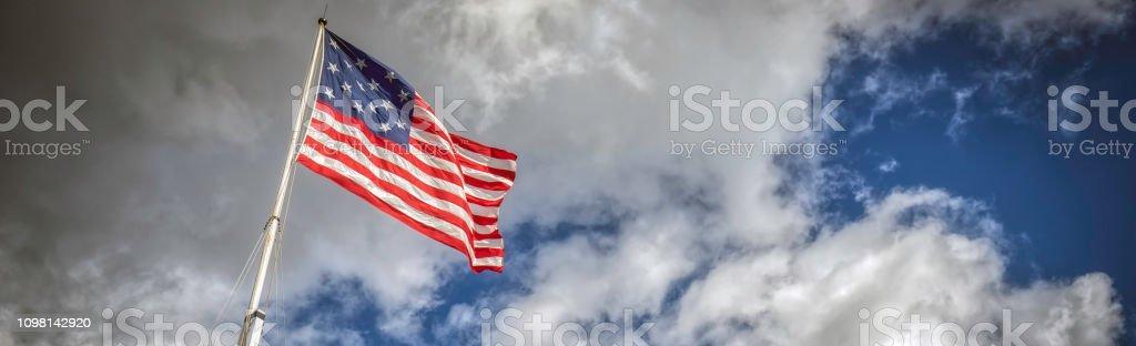 77A bayraklar (Banner) stok fotoğrafı