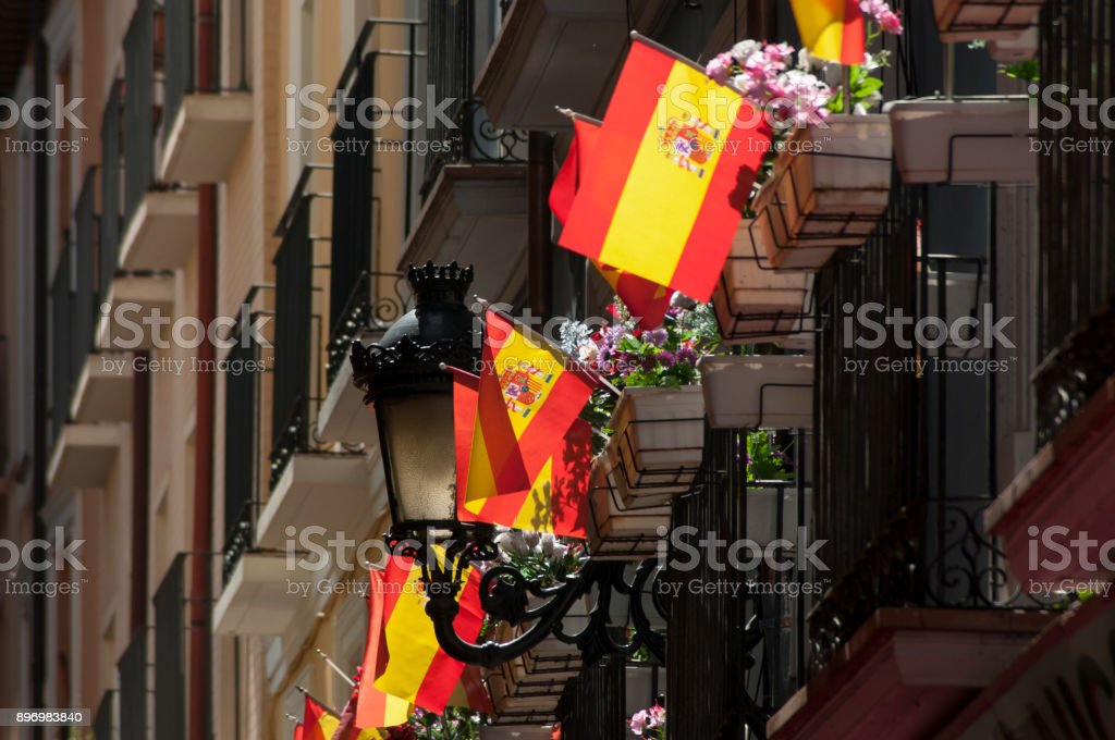 flags and balconies - foto stock