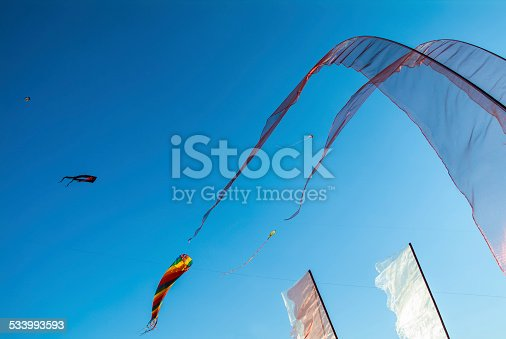Flags and Dragons while Kite Festival