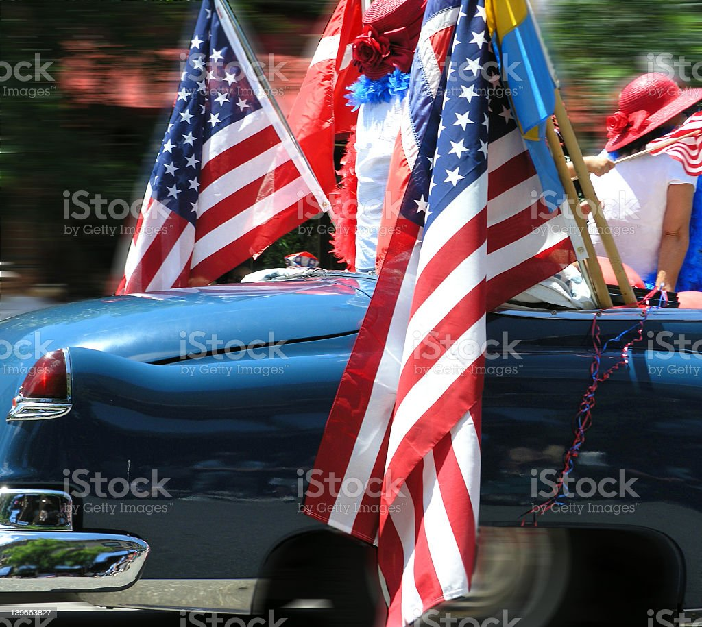 flags and girls royalty-free stock photo