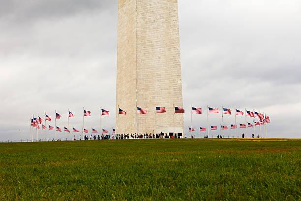 Flags Around the Washington Monument stock photo