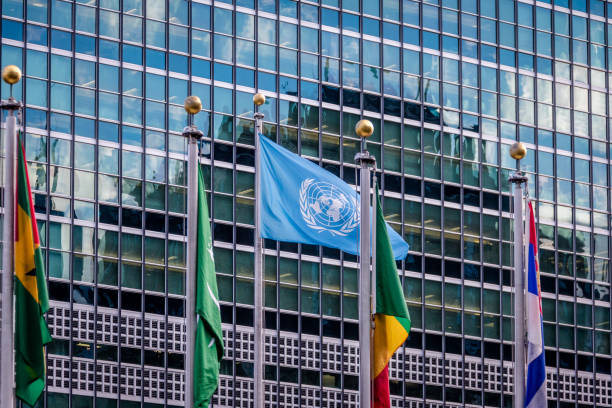 flags at united nations headquarters - new york, usa - united nations стоковые фото и изображения
