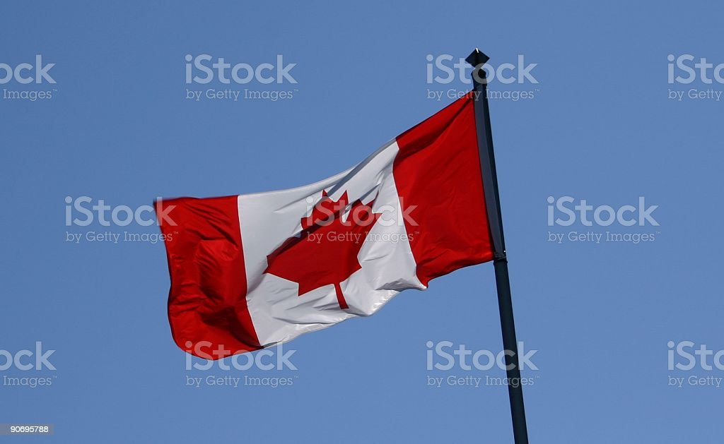 Flags: Canada royalty-free stock photo