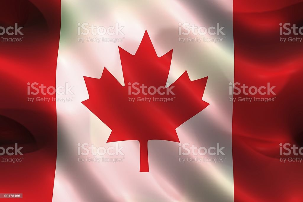 Flags, Canada (3D) royalty-free stock photo