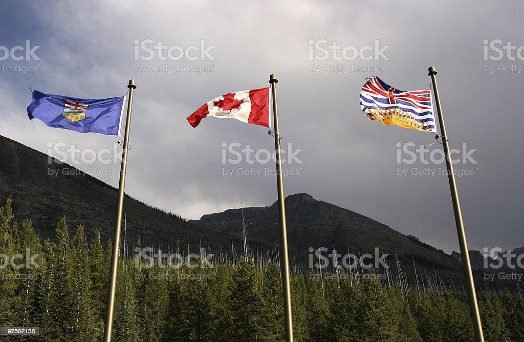 Flags - Canada provinces stock photo