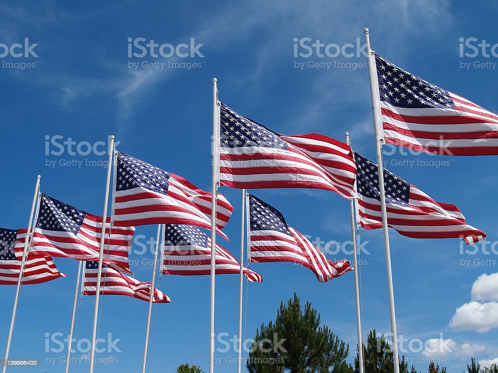 Flags Flying royalty-free stock photo