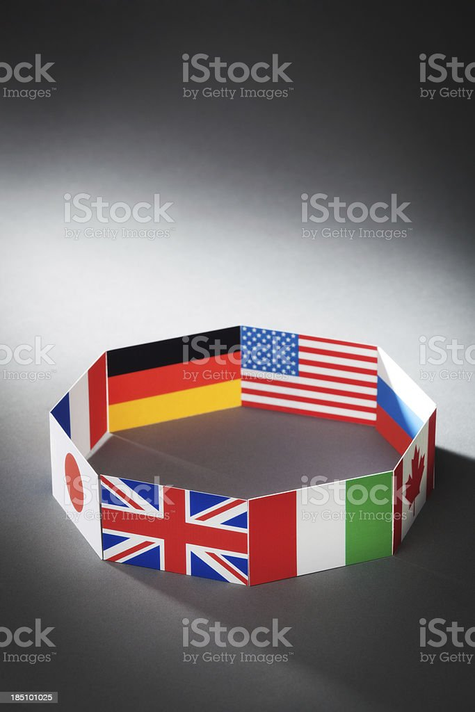 Flags for Global Economic G8 Group of Eight Countries Vt royalty-free stock photo