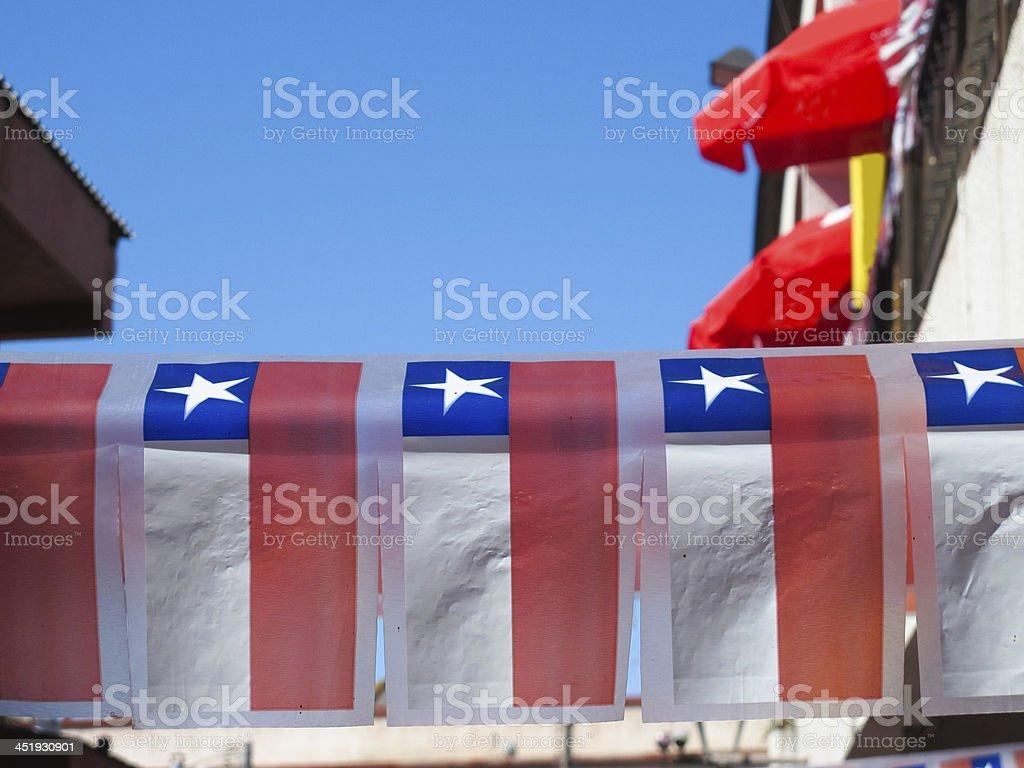 Bandeiras na rua, Santiago do Chile - foto de acervo