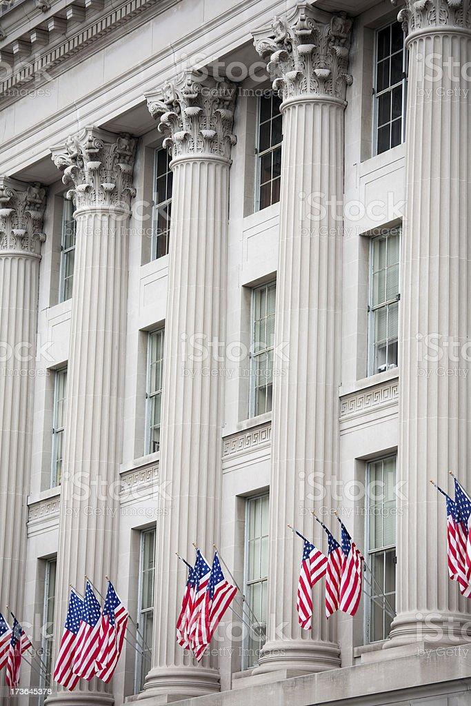Flags in Washington DC stock photo