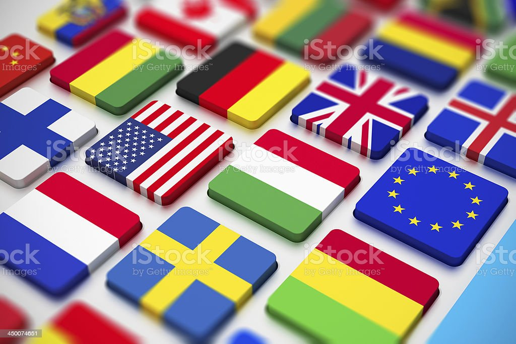 Flags keyboard stock photo