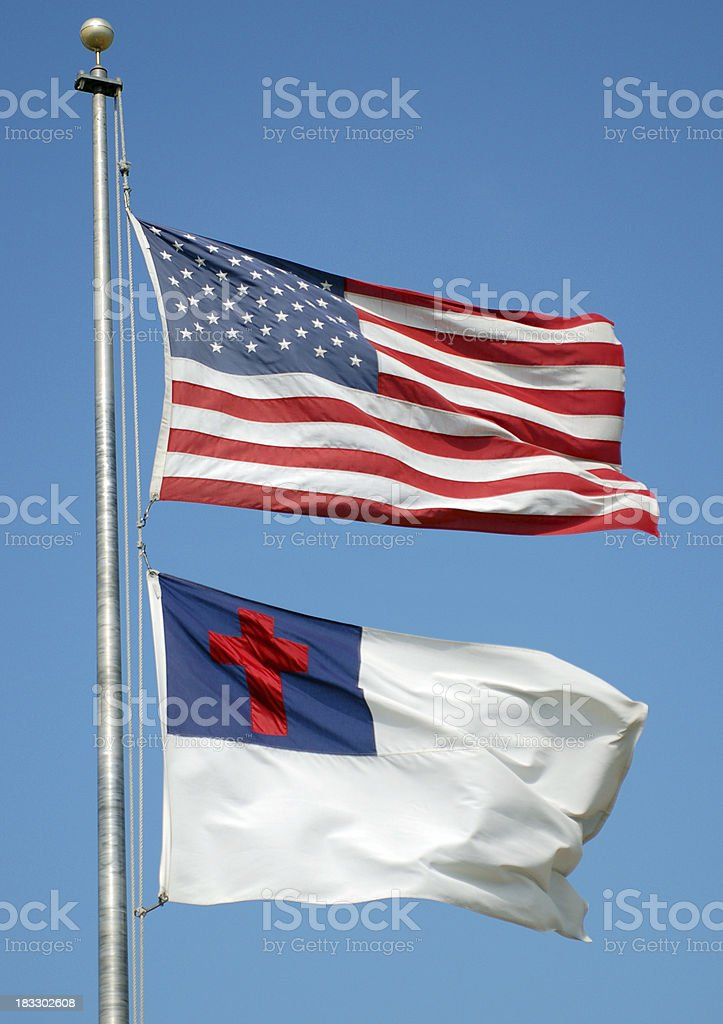 Flags of America stock photo