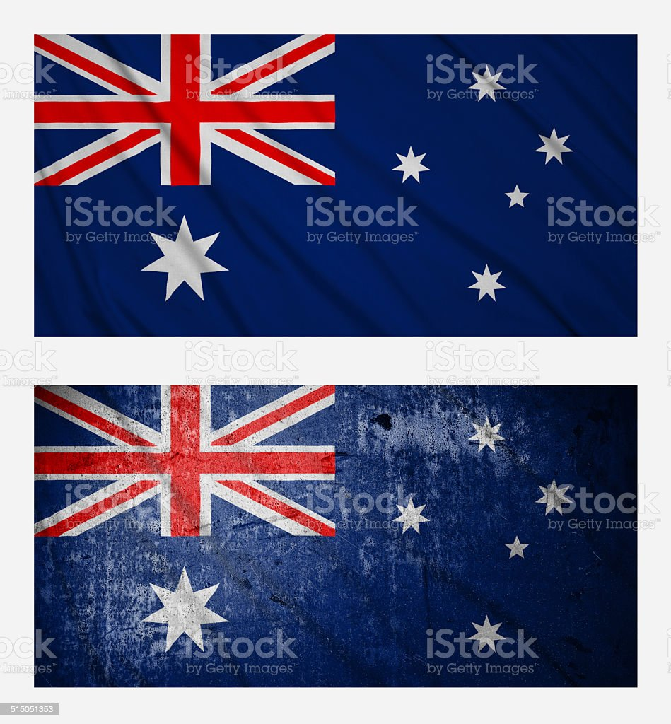 flags of Australia stock photo