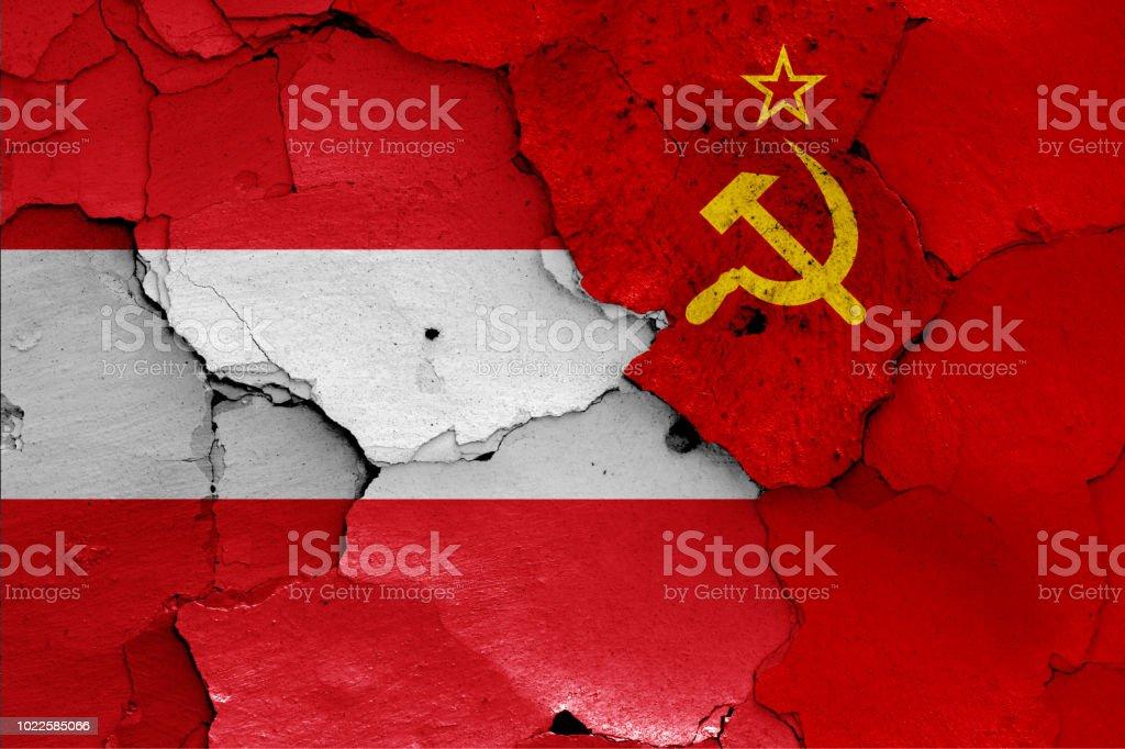 banderas de Austria y la Unión Soviética - foto de stock