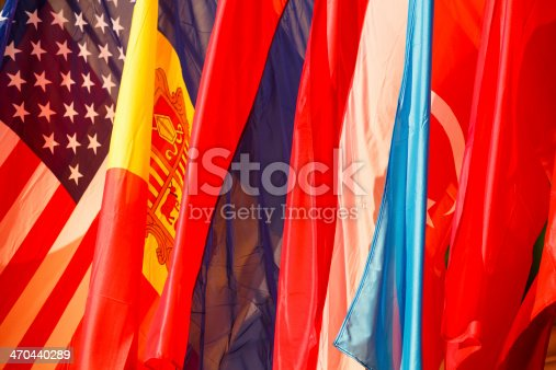 istock Flags of Azerbaijan, USA, Romania, Armenia and Austria 470440289