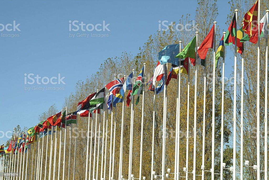 Flags of countries royalty-free stock photo