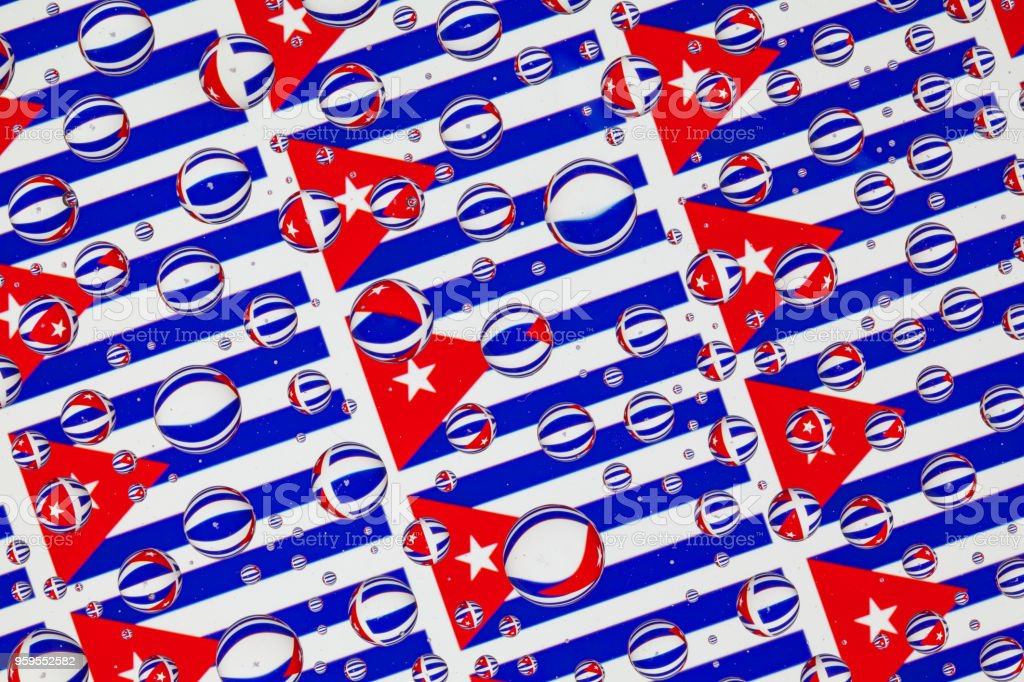 Flags  of Cuba stock photo