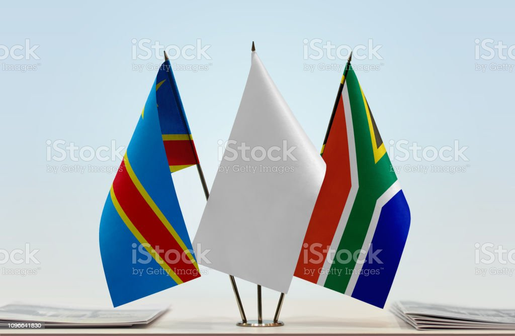 Flags Of Democratic Republic Of The Congo And Republic Of