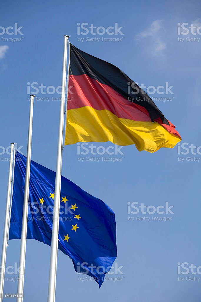 Flags of Europe royalty-free stock photo