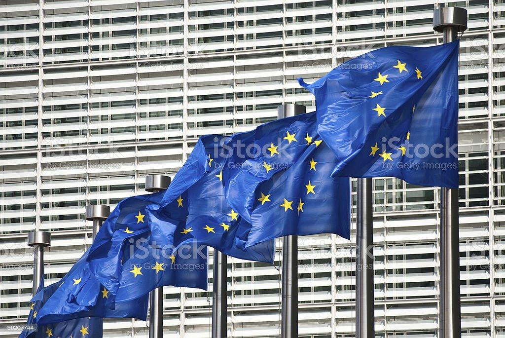 Flags of European Union royalty-free stock photo