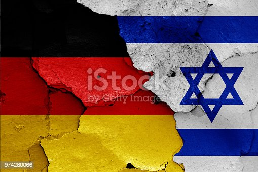 istock flags of Germany and Israel 974280066