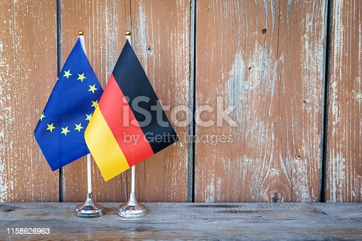 istock Flags of Germany and the European Union 1158626963