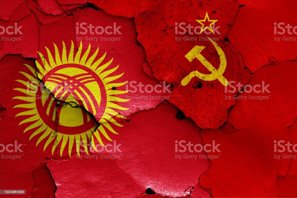 Bandera de Kirguistán y la Unión Soviética - foto de stock