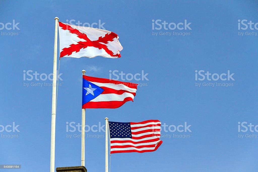 Banderas de Puerto Rico - foto de stock