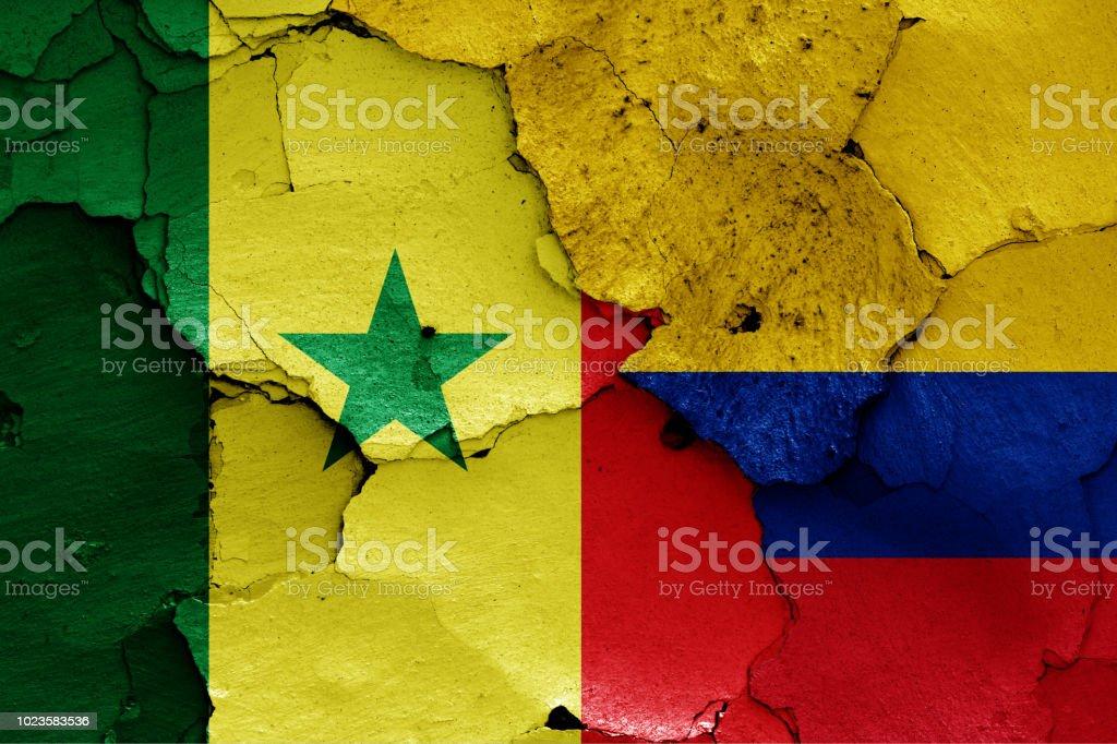sinalizadores de Senegal e Colômbia - foto de acervo