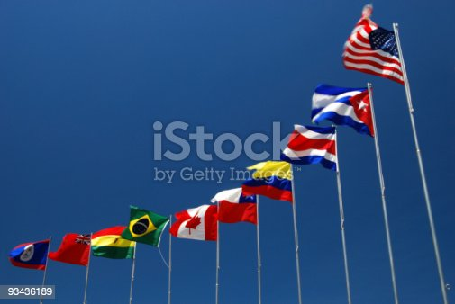 istock Flags of The Americas 93436189