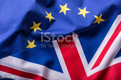 istock Flags of the United Kingdom and the European Union. 511741536